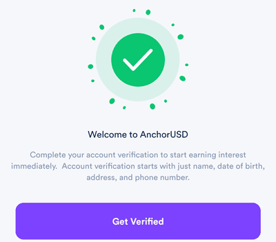 verification on anchor usd app
