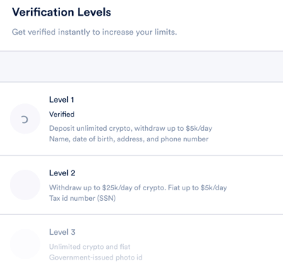 anchor usd verification levels