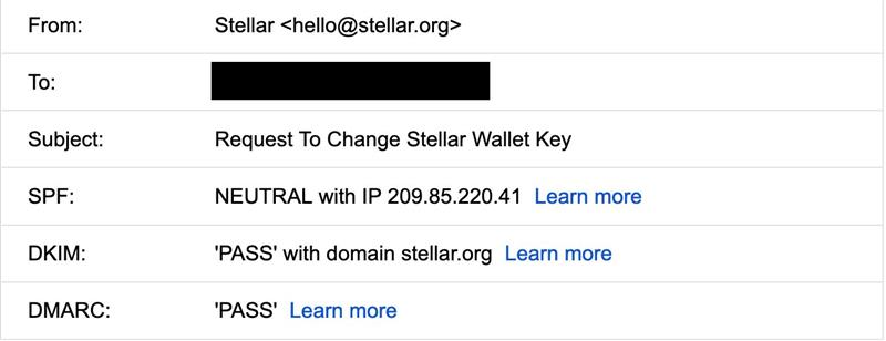 stellar phishing email